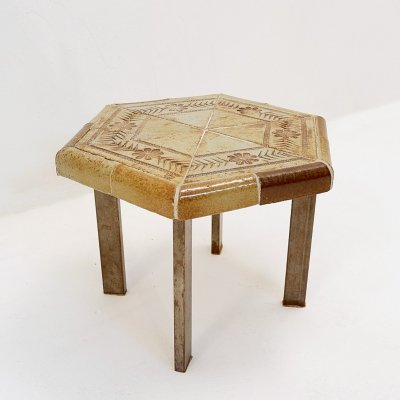 Ceramic coffee table by Roger Capron for Vallauris, France 1960s