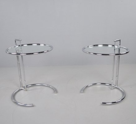 Classicon E1027 side tables by Eileen Gray, 1990s