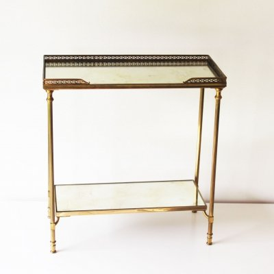 Two Tier Side Table by Maison Jansen, France 1960's