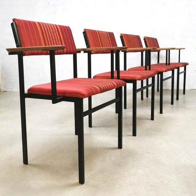 Vintage Dutch design dining chairs, 1950s