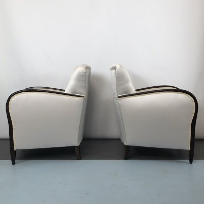 Pair of Vintage Armchairs, Italy 1940s