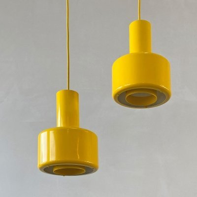 Pair of Piccolo hanging lamps by Lyfa Denmark, 1975