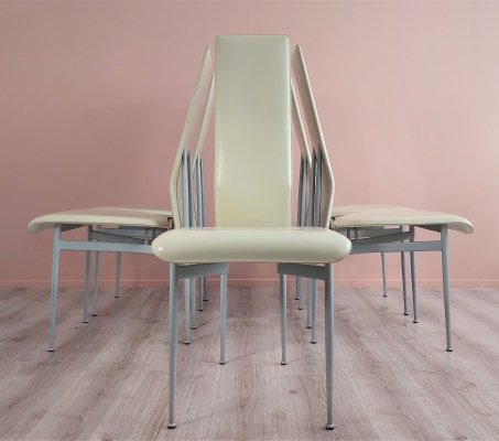 Set of 5 Fasem 'S44' Dining Chairs by Giancarlo Vegni & Gianfranco Gualtierotti