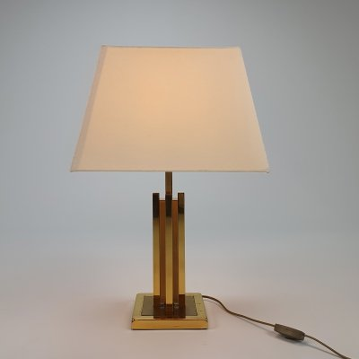 24kt Gold-plated table lamp, 1970s