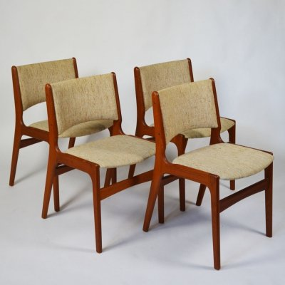 Danish teak Model 89 dining chairs by Erik Buch for Anderstrup