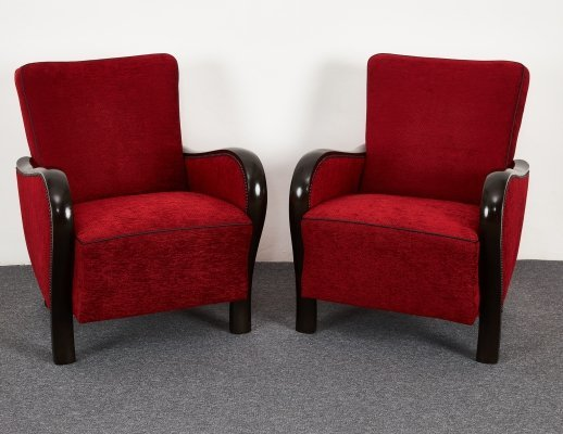 Mid Century Hungarian Art Deco 'Rumba' Club Armchair from the 1930s-40s