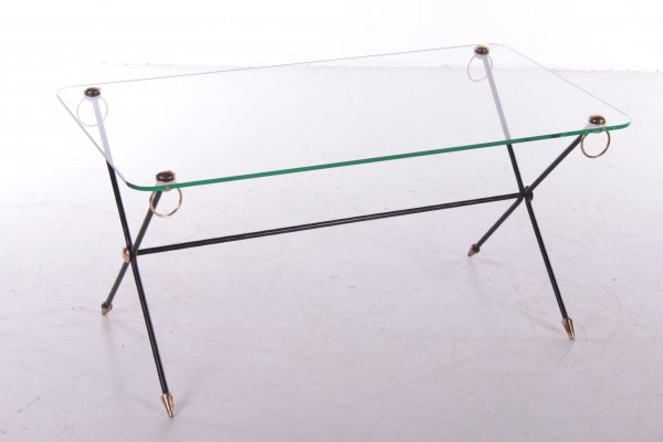 X-base Coffee table by Jacques Adnet, 1960