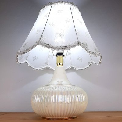 Retro nacre table lamp by Jean Marie, Italy 1970s
