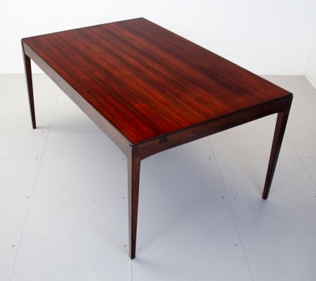 Danish Rosewood Extending Dining Table by Hornslet, 1960s