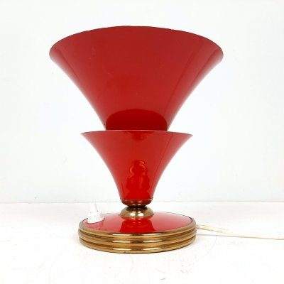 Vintage red table lamp by Stilnovo, Italy 1950s