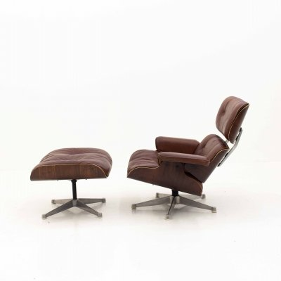Charles & Ray Eames 670 Lounge Chair & 671 Ottoman for ICF