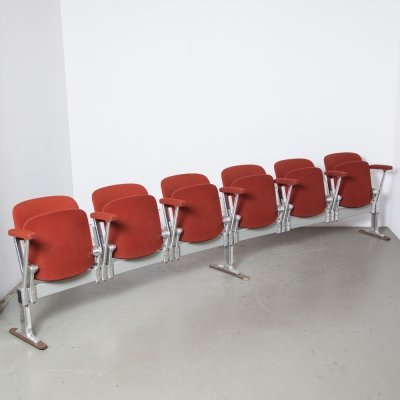 Castelli Piretti Axis 3000 6 seat Bench in red