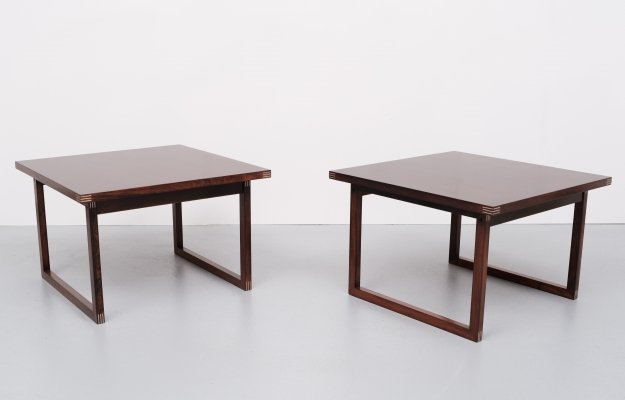 Pair of side tables by Rud Thygesen for Heltborg møbler, 1960s