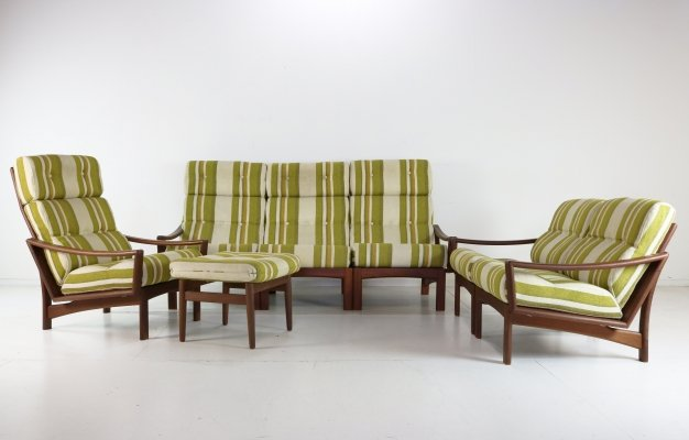 Vario seating group by Grete Jalk for Glostrup Møbelfabrik, 1970s
