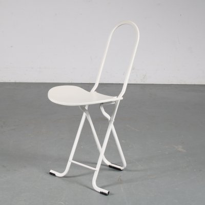 1970s Folding chair by Gaston Rinaldi for Thema, Italy