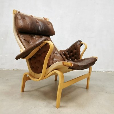 Vintage Pernilla lounge chair by Bruno Mathsson for Dux