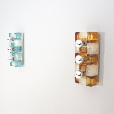 2 Wall lamps by Albano Poli for Poliarte, Italy 1970s