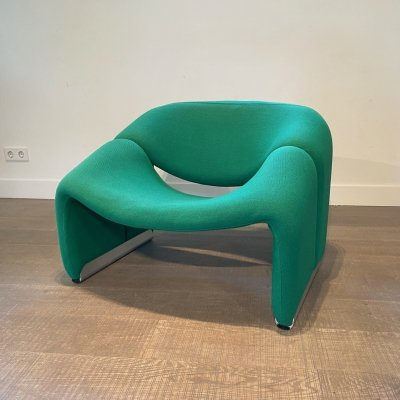 Green Groovy Chair F598 (M Chair) by Pierre Paulin for Artifort, 1970s