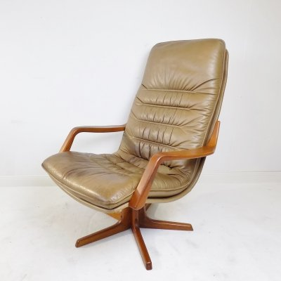 Berg Furniture C90 leather armchair, 1970s