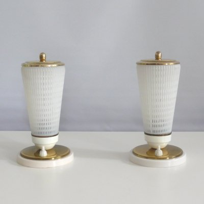 Pair of bedside lamps, 1950s