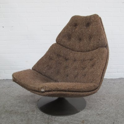 Vintage F588 lounge chair by Geoffrey Harcourt for Artifort, 1960s