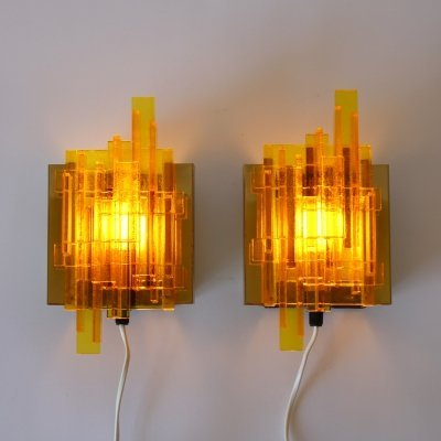 Set of two wall lamps by Claus Bolby for Lyskaer Belysning, Denmark