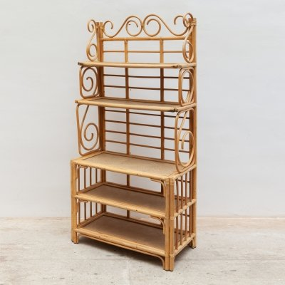 Bamboo Étagère, Wall Unit or Screen, 1970s