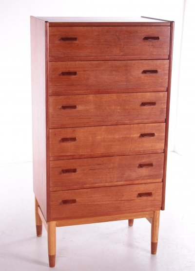 Teak wooden chest of drawers from Poul Volther by Munch Mobler, 1960s