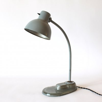 Kandem desk lamp with glass foot, Germany 1940s