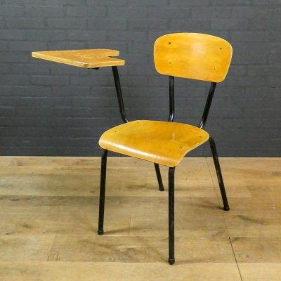 Vintage school chair with removable table