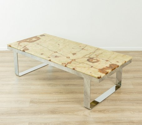 Onyx-marble coffee table, 1970s