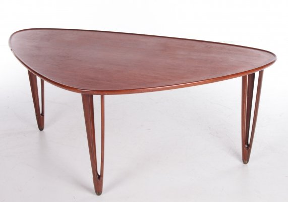 Tripod Coffee table in Teak by BC Mobler, 1950s