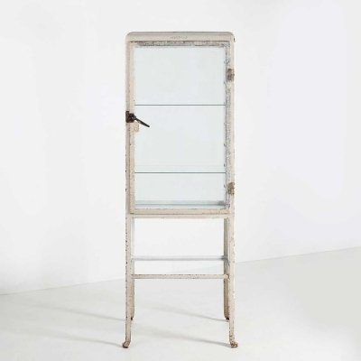 Cabinet in metal & glass, 1920s