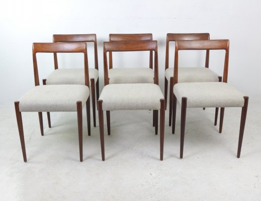 Set of 6 Teak Dining Chairs by Lübke, 1960s