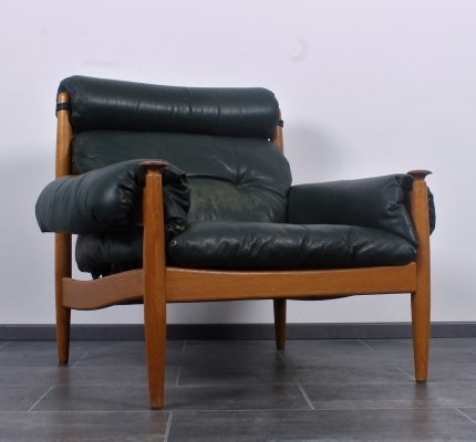 Chairs by Eric Merthen for Ire Mobler in oak wood & leather