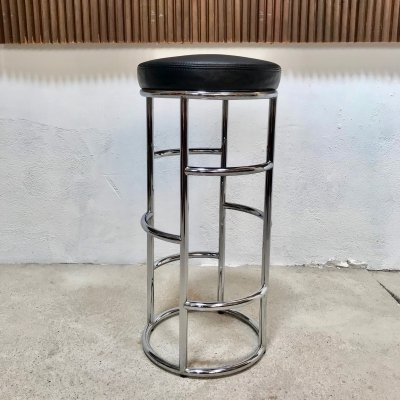 German 'Satish' Art Deco Leather Bar Stool by Eckart Muthesius from ClassiCon