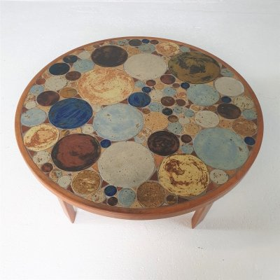 Mid Century Vintage Coffee Table by Tue Poulsen, Denmark 1960s