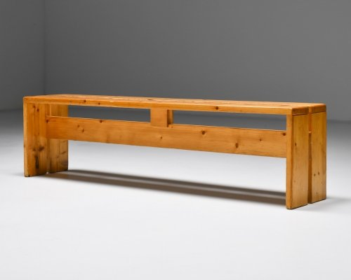 Charlotte Perriand Les Arc three-seater Bench, 1960's