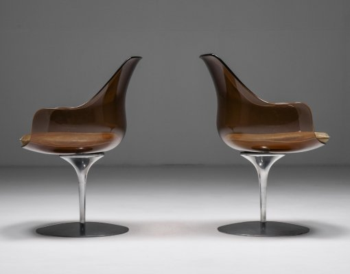 Pair of Champagne Chairs by Erwine & Estelle for Laverne International, 1959