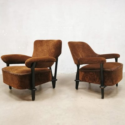 Vintage Dutch design lounge set chairs F109 by Theo Ruth for Artifort