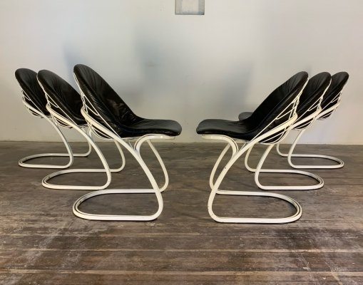 Set of 6 'Sabrina' Dining chairs by Gastone Rinaldi for Rima, Italy 1970s