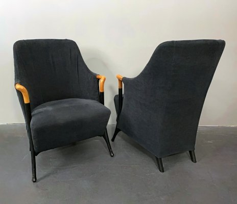 Pair of 'Progetti 63340' Lounge Chairs by Umberto Asnago for Giorgetti, 1980s