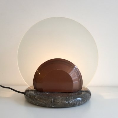 Gong - Big Gong desk lamp by Bruno Gecchelin for Skipper Pollux, 1980s