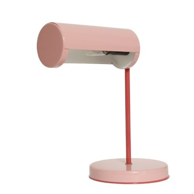 Onyks III metal desk lamp in two shades of pink by Polam Suwałki, Poland 1990s