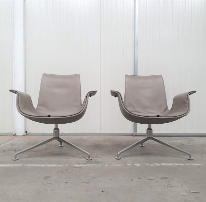 Set of 2 FK lounge chairs by Kastholm & Fabricius for Walter Knoll