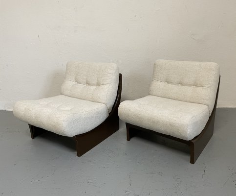 Pair of Ernst Moeckl lounge chairs, 1970s
