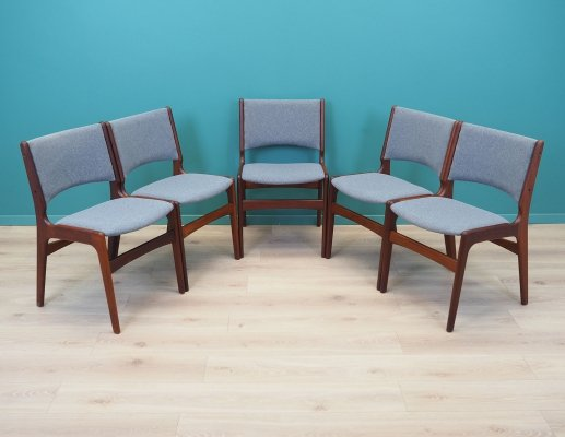 Set of 5 rosewood chairs by Henning Kjærnulf, Denmark 1970s