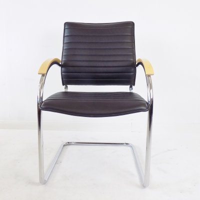 Thonet S 74 leather chair by Josef Gorcica