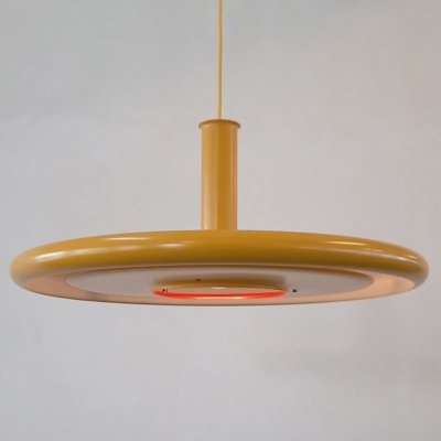 Yellow Optima 6 hanging lamp by Hans Due for Fog & Morup Denmark, 1972