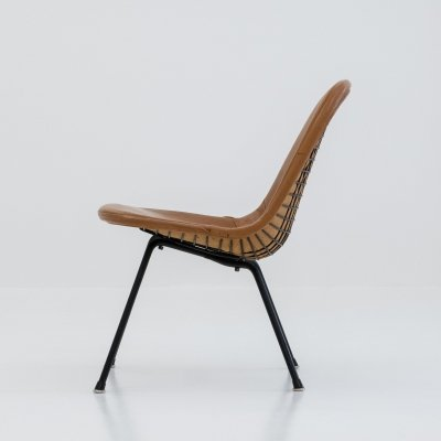 LKX-1 Lounge Height K-Wire Base chair by Charles & Ray Eames for Herman Miller, 1950s